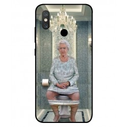 Durable Queen Elizabeth On The Toilet Cover For Xiaomi Mi 8