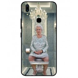 Durable Queen Elizabeth On The Toilet Cover For Vivo Z1