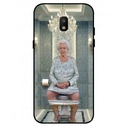 Durable Queen Elizabeth On The Toilet Cover For Samsung Galaxy J3 2018