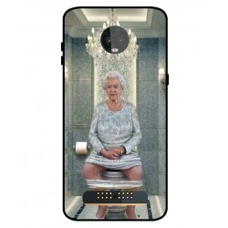 Durable Queen Elizabeth On The Toilet Cover For Motorola Moto Z3 Play