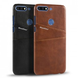 Hard Leather Cover For Huawei Honor 7C