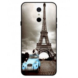 Durable Paris Eiffel Tower Cover For LG Q7
