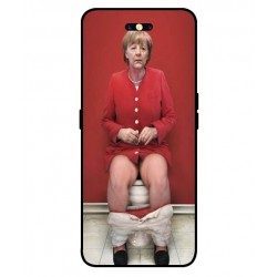 Durable Angela Merkel On The Toilet Cover For Oppo Find X