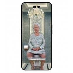 Durable Queen Elizabeth On The Toilet Cover For Oppo Find X