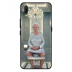 Durable Queen Elizabeth On The Toilet Cover For Vivo NEX S