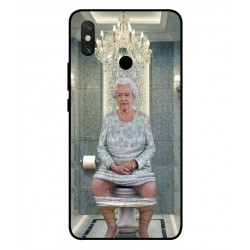 Durable Queen Elizabeth On The Toilet Cover For Xiaomi Mi Max 3