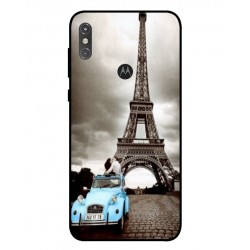 Durable Paris Eiffel Tower Cover For Motorola One Power P30 Note