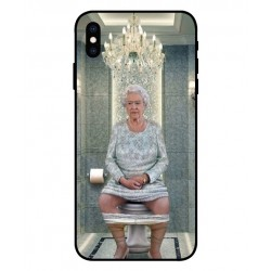 Durable Queen Elizabeth On The Toilet Cover For iPhone XS Max