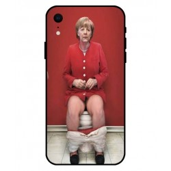Durable Angela Merkel On The Toilet Cover For iPhone XR