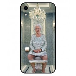 Durable Queen Elizabeth On The Toilet Cover For iPhone XR