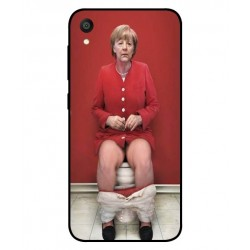 Durable Angela Merkel On The Toilet Cover For Asus ZenFone Lite L1 ZA551KL