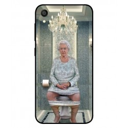 Durable Queen Elizabeth On The Toilet Cover For Asus ZenFone Lite L1 ZA551KL