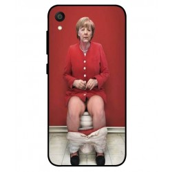 Durable Angela Merkel On The Toilet Cover For Asus ZenFone Live L1 ZA550KL