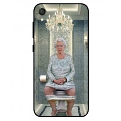 Durable Queen Elizabeth On The Toilet Cover For Asus ZenFone Live L1 ZA550KL