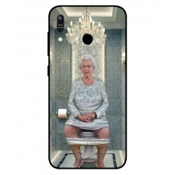 Durable Queen Elizabeth On The Toilet Cover For Asus Zenfone Max M1 ZB556KL