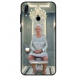Durable Queen Elizabeth On The Toilet Cover For Asus Zenfone Max Pro M1 ZB601KL