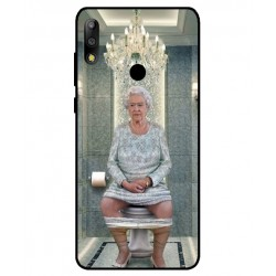 Durable Queen Elizabeth On The Toilet Cover For Asus Zenfone Max Pro M2 ZB631KL