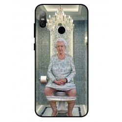 Durable Queen Elizabeth On The Toilet Cover For HTC U12 Life