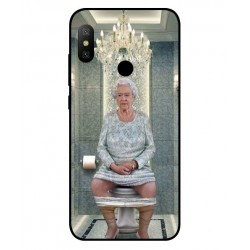 Durable Queen Elizabeth On The Toilet Cover For Xiaomi Redmi Note 6 Pro