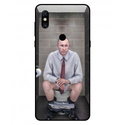 Durable Vladimir Putin On The Toilet Cover For Xiaomi Mi Mix 3