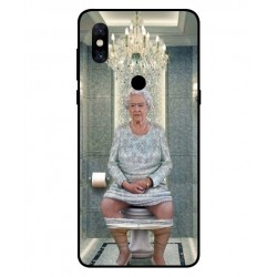 Durable Queen Elizabeth On The Toilet Cover For Xiaomi Mi Mix 3