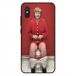 Durable Angela Merkel On The Toilet Cover For Xiaomi Mi 8 Pro