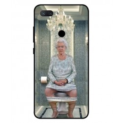 Durable Queen Elizabeth On The Toilet Cover For Xiaomi Mi 8 Lite