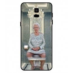 Durable Queen Elizabeth On The Toilet Cover For Samsung Galaxy On6