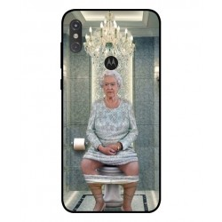 Durable Queen Elizabeth On The Toilet Cover For Motorola One