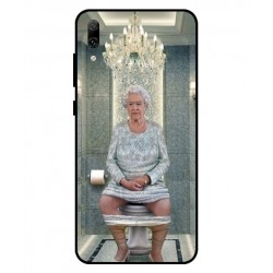 Durable Queen Elizabeth On The Toilet Cover For Huawei Enjoy 9