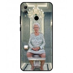 Durable Queen Elizabeth On The Toilet Cover For Huawei Honor 10 Lite