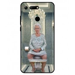 Durable Queen Elizabeth On The Toilet Cover For Huawei Honor View 20