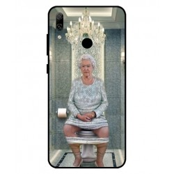 Durable Queen Elizabeth On The Toilet Cover For Huawei P Smart 2019