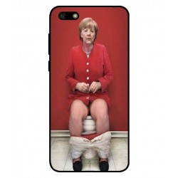Durable Angela Merkel On The Toilet Cover For Huawei Y5 Lite 2018