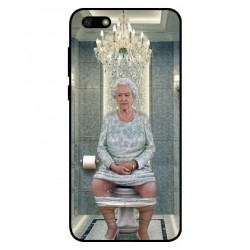 Durable Queen Elizabeth On The Toilet Cover For Huawei Y5 Lite 2018