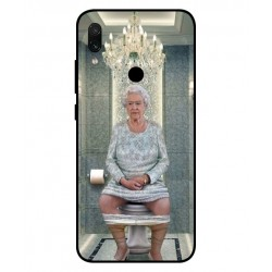 Durable Queen Elizabeth On The Toilet Cover For Xiaomi Redmi Note 7 Pro