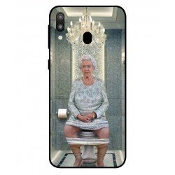 Durable Queen Elizabeth On The Toilet Cover For Samsung Galaxy M20