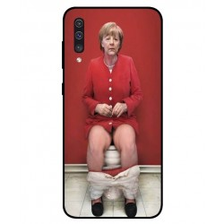 Durable Angela Merkel On The Toilet Cover For Samsung Galaxy A50
