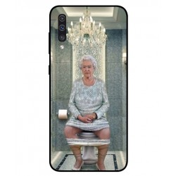 Durable Queen Elizabeth On The Toilet Cover For Samsung Galaxy A50