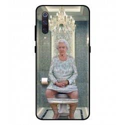 Durable Queen Elizabeth On The Toilet Cover For Xiaomi Mi 9 SE