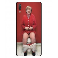 Durable Angela Merkel On The Toilet Cover For Sony Xperia L3