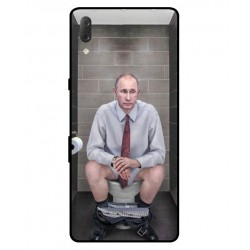 Durable Vladimir Putin On The Toilet Cover For Sony Xperia L3