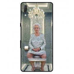 Durable Queen Elizabeth On The Toilet Cover For Sony Xperia L3