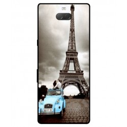 Durable Paris Eiffel Tower Cover For Sony Xperia 10 Plus