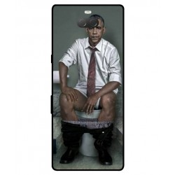 Durable Obama On The Toilet Cover For Sony Xperia 10 Plus