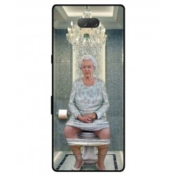 Durable Queen Elizabeth On The Toilet Cover For Sony Xperia 10 Plus