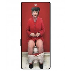 Durable Angela Merkel On The Toilet Cover For Sony Xperia 10