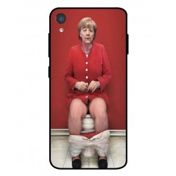 Durable Angela Merkel On The Toilet Cover For Asus ZenFone Live L2