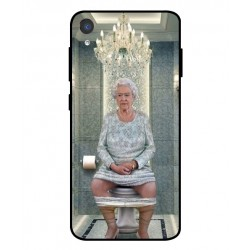 Durable Queen Elizabeth On The Toilet Cover For Asus ZenFone Live L2
