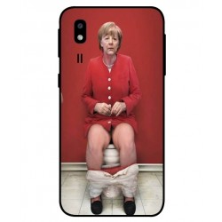Durable Angela Merkel On The Toilet Cover For Samsung Galaxy A2 Core